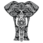 Elefant Dekorativ 1