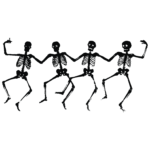 Halloween Tanzende Skelette